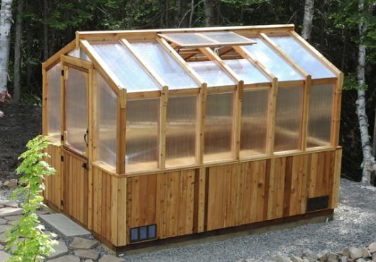 8x12 ft. Cedar Greenhouse