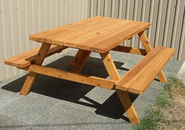 Picnic Table Kit | Cedar Wood - Outdoor Living Today