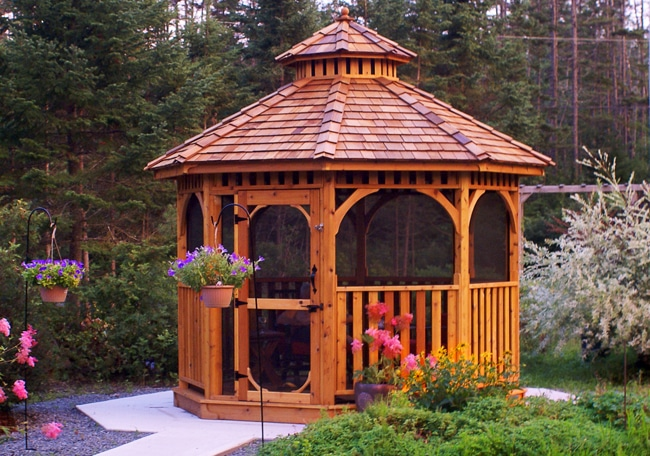 Backyard Gazebo - Bayside 10 ft with Screen Kit