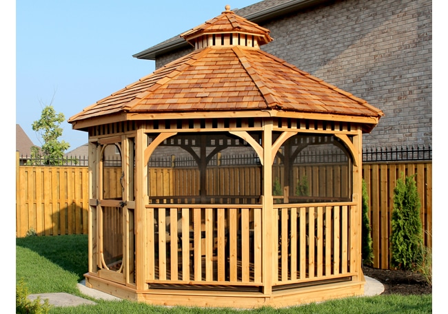 Screened Gazebo - Bayside with Screenkit