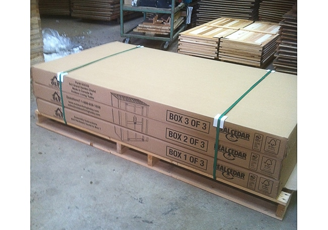 Outdoor Storage Shed Kits Packaging