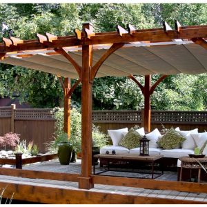 Pergola Covers   With Retractable Canopy 12 X 20