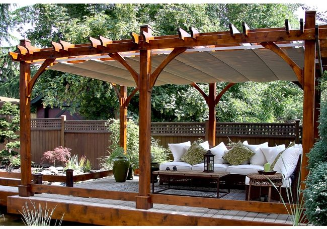 Pergola Covers - with Retractable Canopy 12 x 20