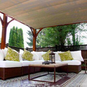 Pergola - with Retractable Canopy 12 x 20