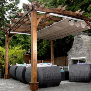 how to make a retractable pergola cover