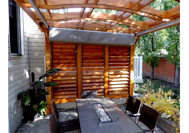 Pergola - Arched Breeze with Retractable Canopy 10 x 12