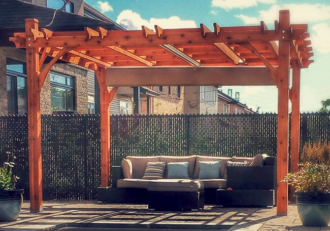Pergola - with Retractable Canopy 12 x 12