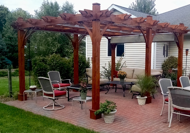 Ordinaire Pergola Canopy   With Retractable Canopy 12 X 16