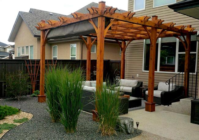 12'x16' Breeze Pergola with Retractable Canopy - Outdoor ...