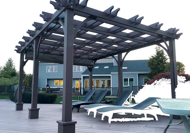 12 16 Canopy : X breeze pergola with retractable canopy outdoor