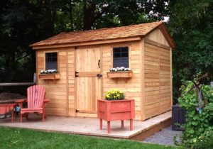 5 Sided Shed   9x9 Penthouse, Garden, Corner Shed ... on Outdoor Living Today Cabana id=43346