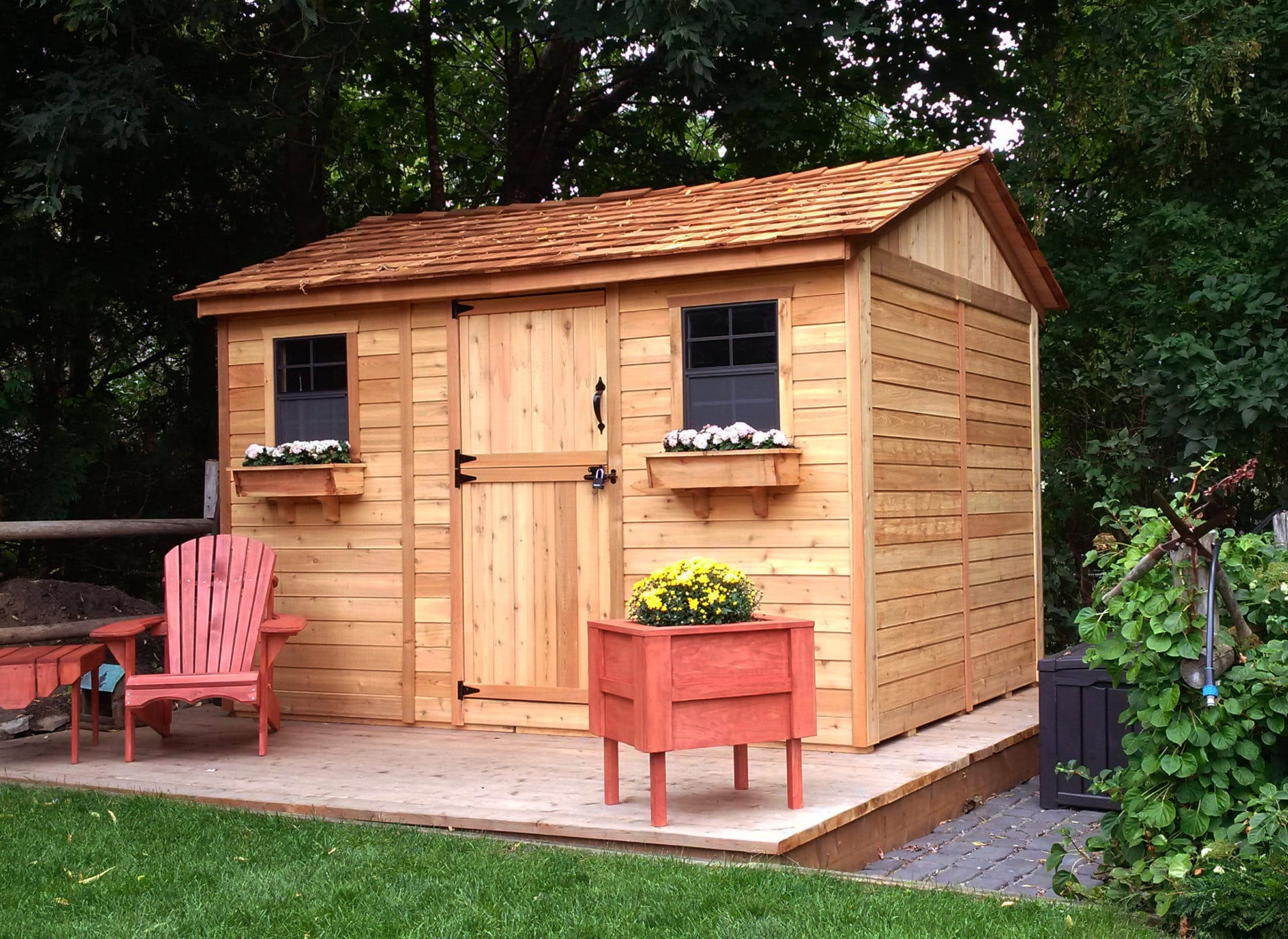Cedar shed kits for sale outdoor living today for Garden shed for sale