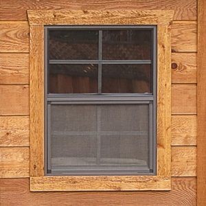 Cedar Shed Kit Window