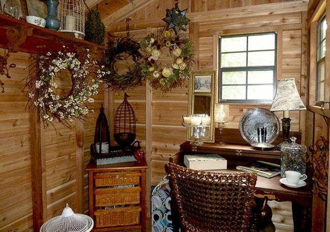 Cedar Shed Interior