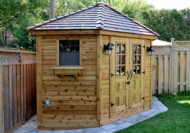 Outdoor Living Today Sheds : 5 Sided Shed  9x9 Penthouse, Garden, Corner Shed ...