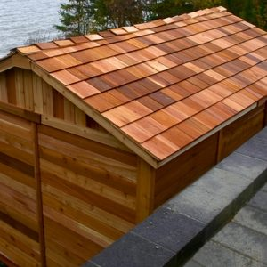 Cedar Shed Kit Roof