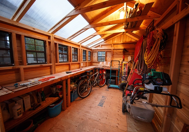 Cedar Shed Kit - Interior