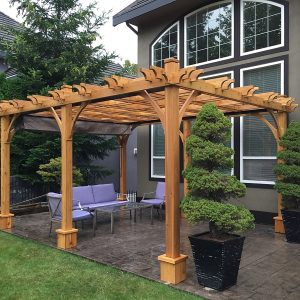 Attached Pergola Cedar