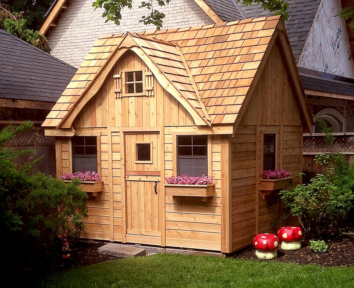 Cedar Playhouse With Loft 9x9 Outdoor Living Today