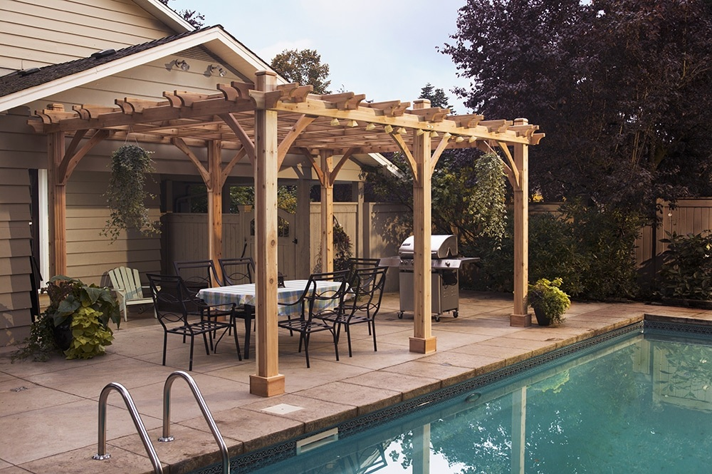 Cedar Pergola Kit - Cedar Pergola 12x20 Pergola Kits - Outdoor Living Today