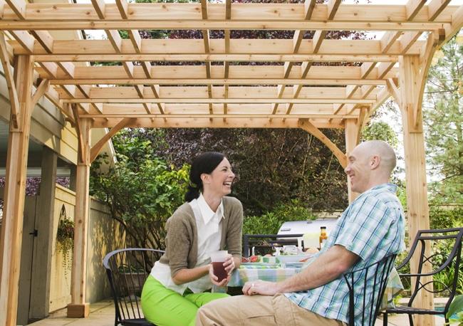 Custom-Pergola-Shot - Custom Size Cedar Pergola Kits - Outdoor Living Today