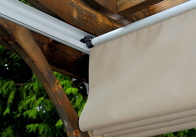 Custom Size Pergola Retractable Canopy Kit - Outdoor ...