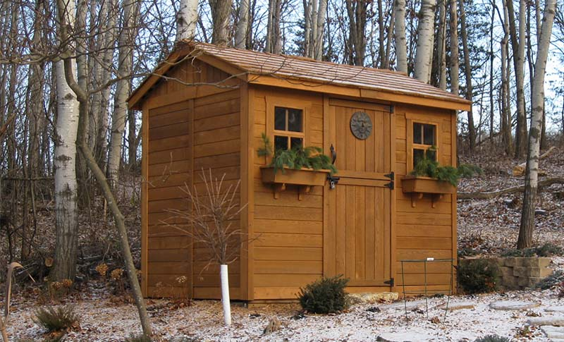 prepare your garden shed for the winter