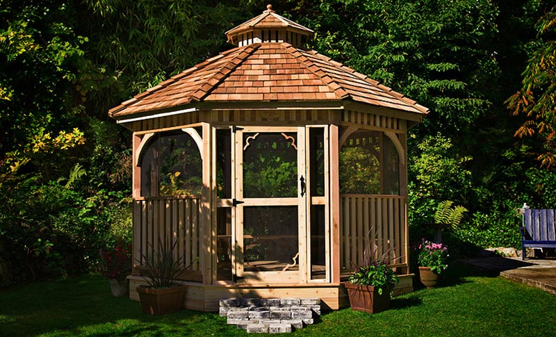 beautify garden with gazebo