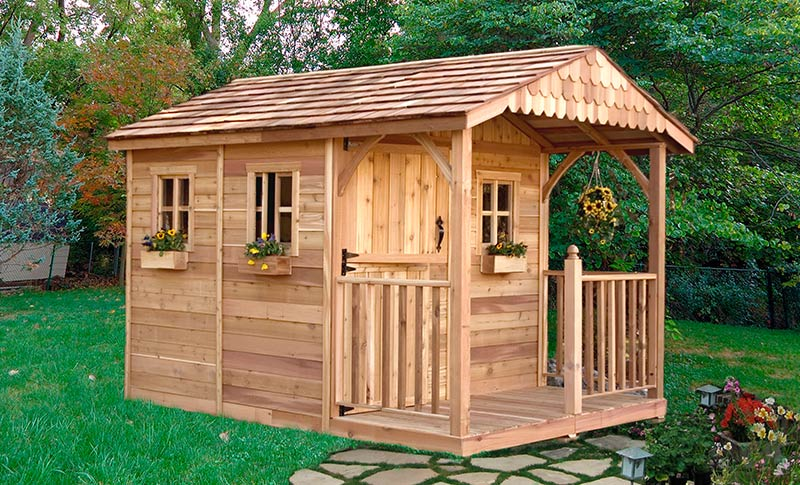 garden sheds add to your backyard design