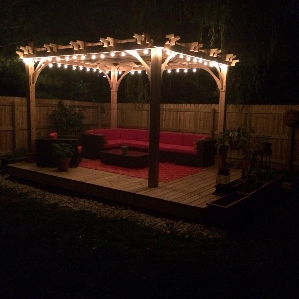 Patio Pergola And Deck Lighting Ideas And Pictures: 5 Amazing Ways To Illuminate Your Pergola