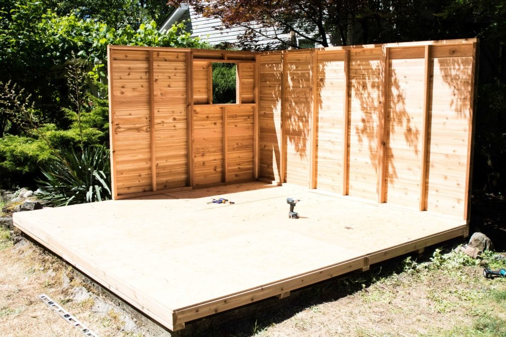 how to level a shed