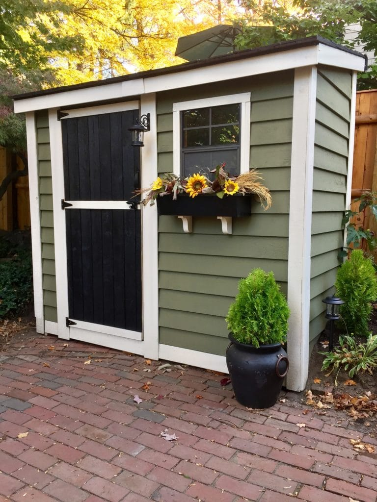 Garden Shed Ready for Winter