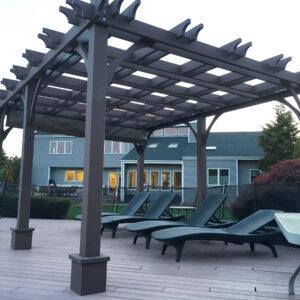 Pergola with Retractable Canopy   10x16